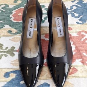 Evan Picone Leather and Patent Pumps